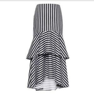 Banana republic striped midi skirt